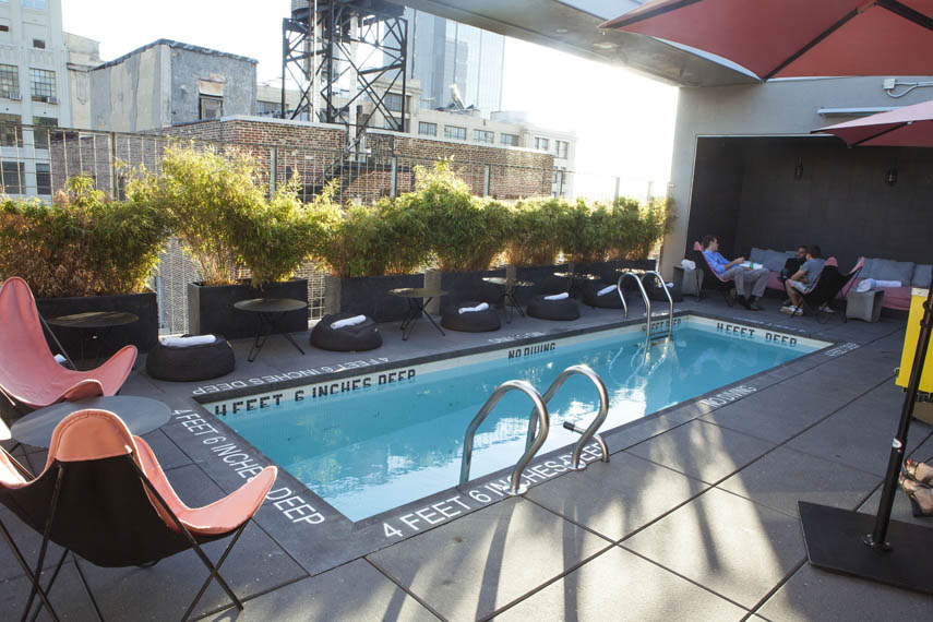 Above it all rooftop bars manhattan sideways for Hotel americano pool