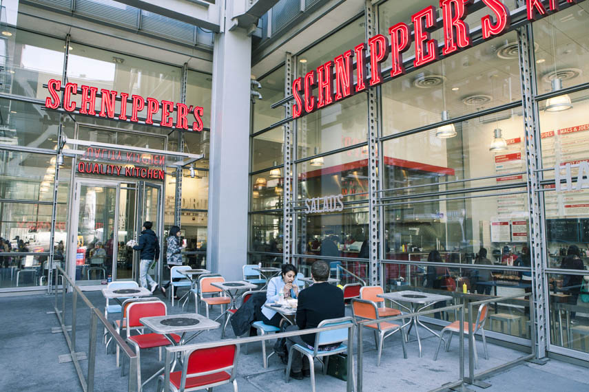 People eat Schnipper's Quality Kitchen